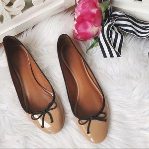 Celine Blush Patent Leather Round Toe Ballet Flats